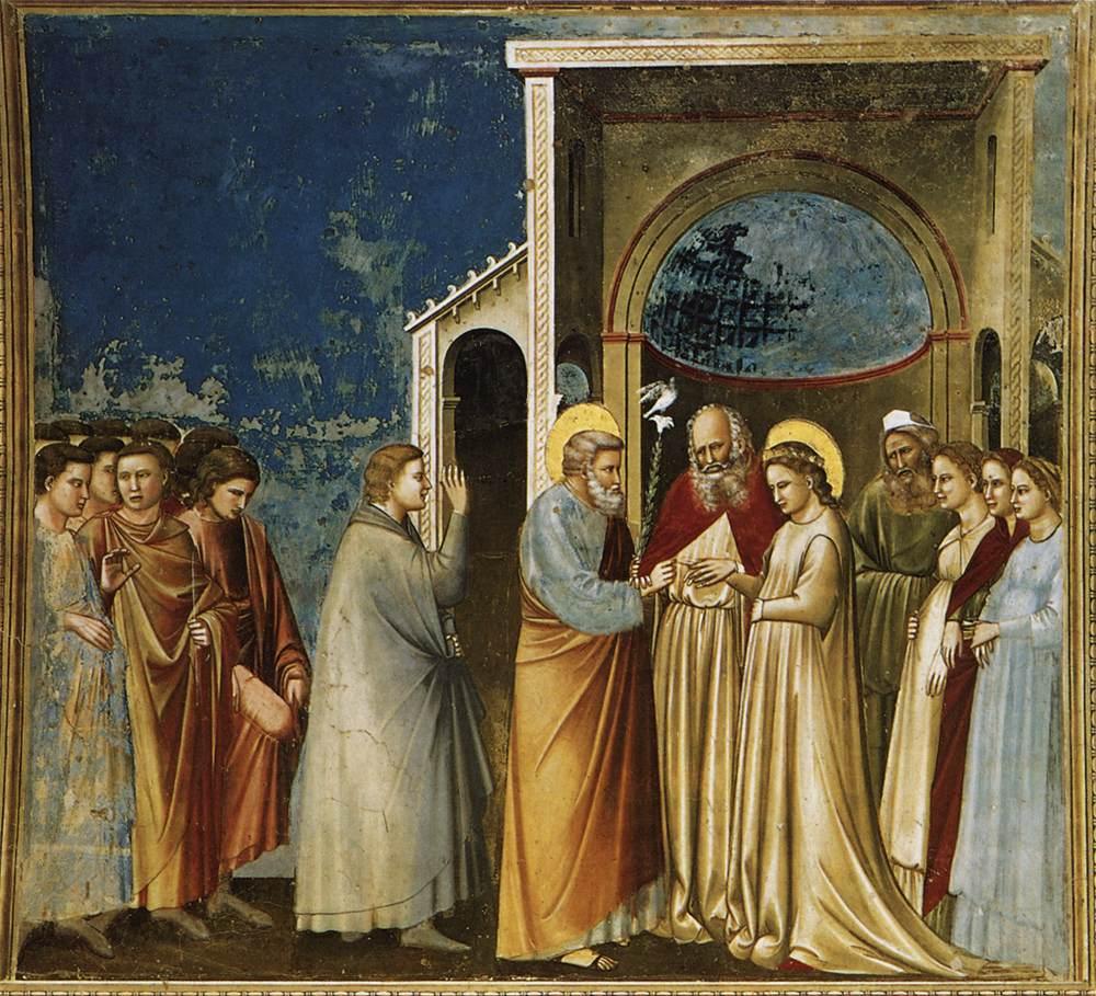 Meryem'in Evliliği - Giotto 14.yy