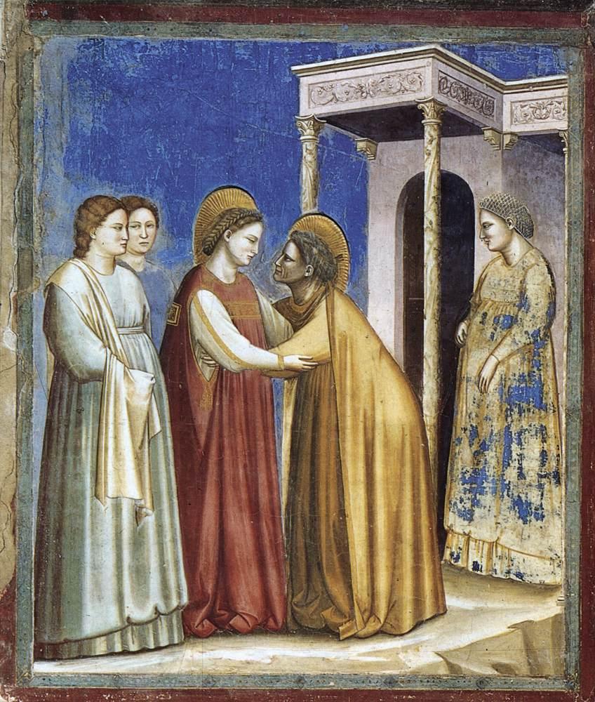 Meryem'in Elizabeth'i Ziyareti - Giotto 14.yy