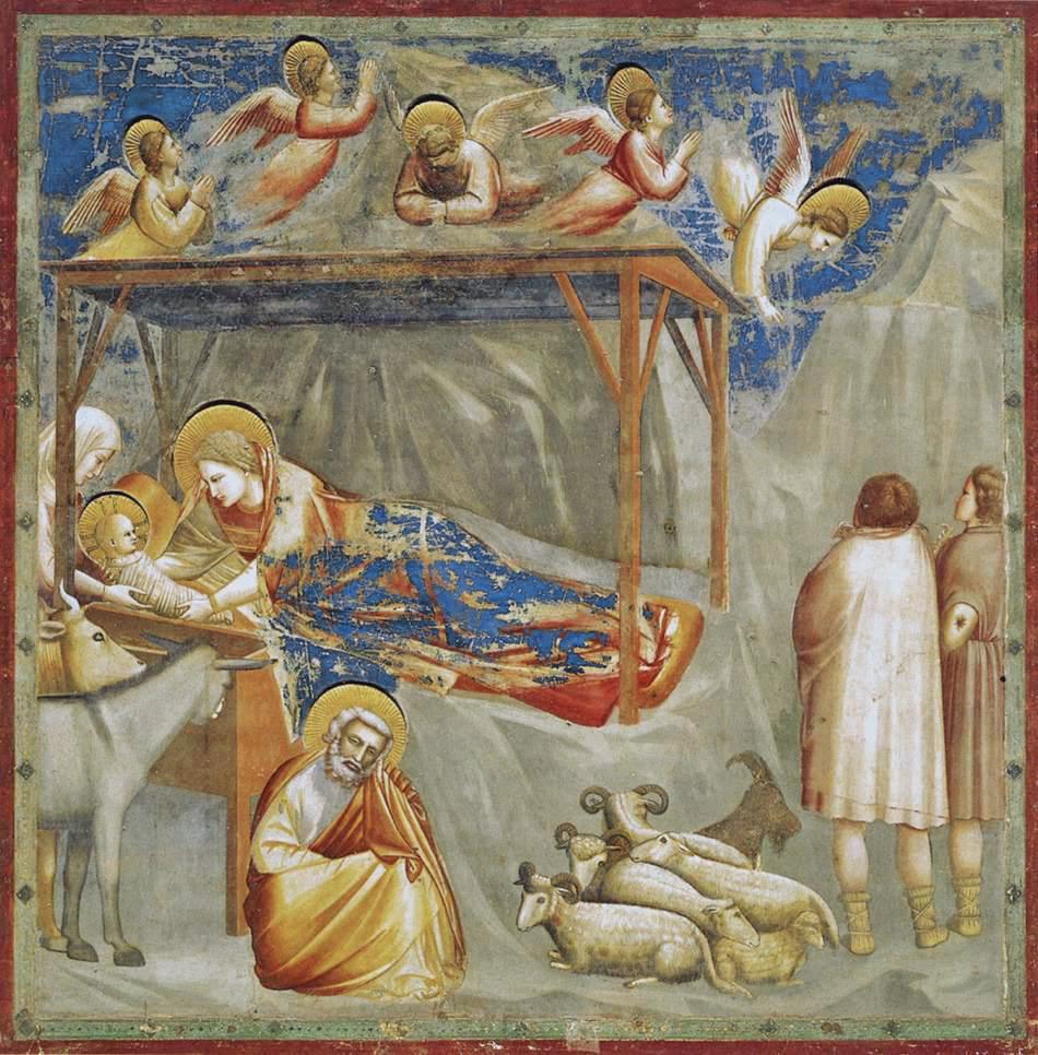İsa'nın Doğumu - Giotto 14.yy - Giotto 14.yy