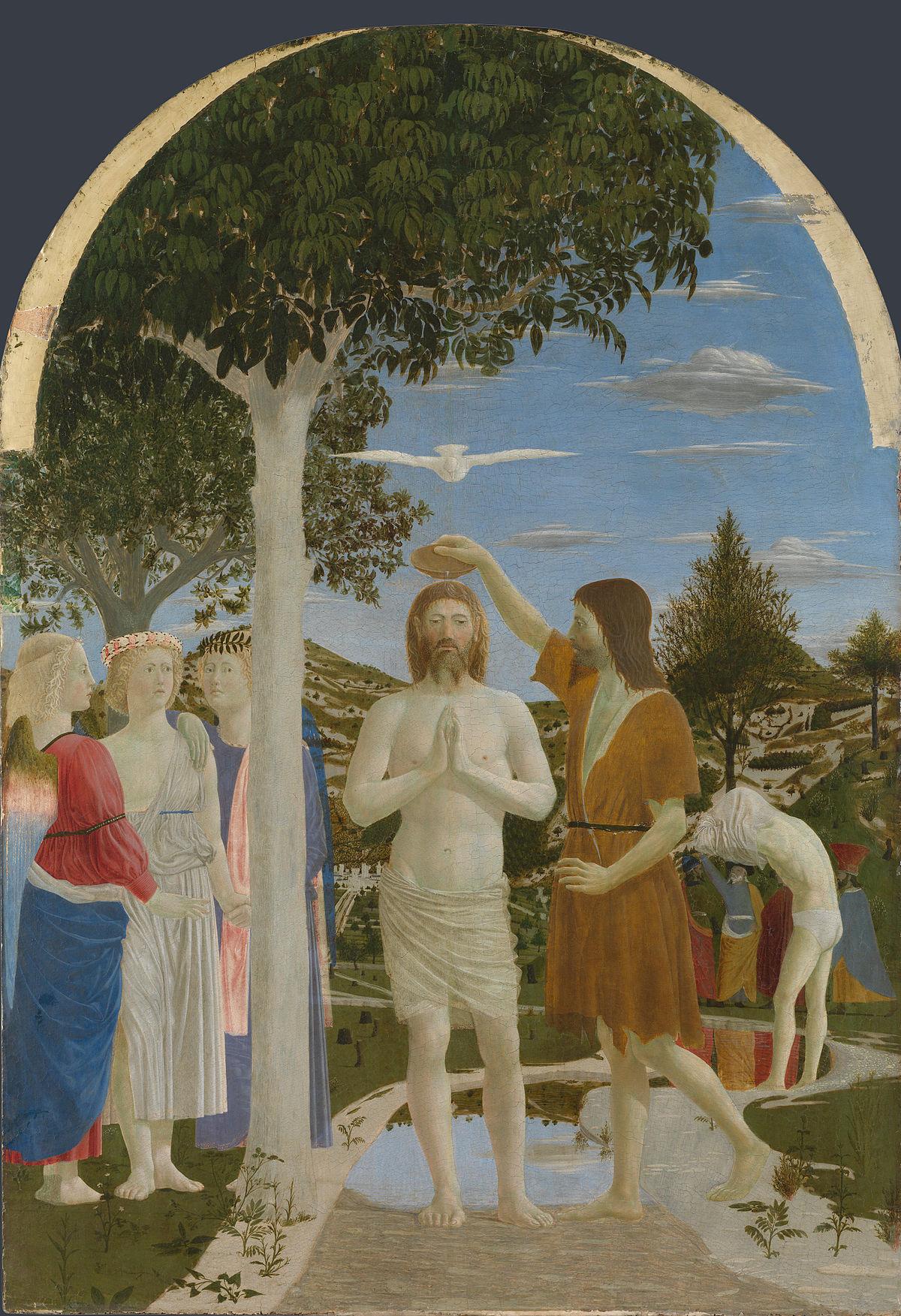 İsa'nın Vaftizi - Piero della Francesca 15.yy