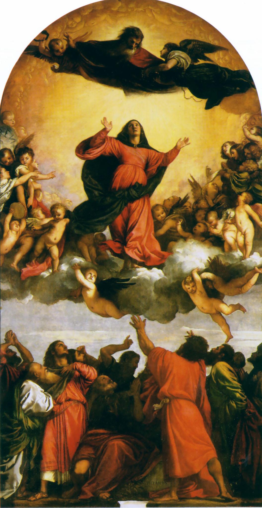Meryem'in Göğe Yükselişi - Tiziano Vecellio 16.yy