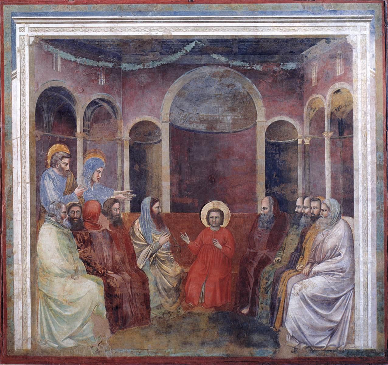 İsa Bilginler Arasında - Giotto 14.yy