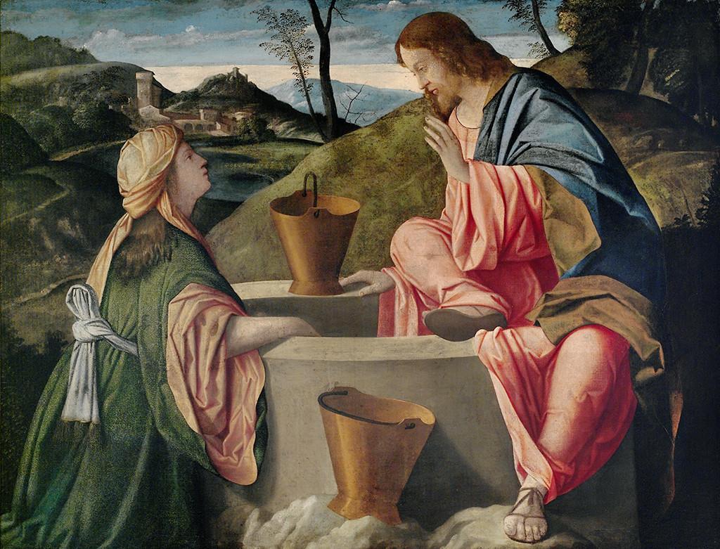 İsa ve Samaryalı Kadın - Vincenzo Catena 16.yy