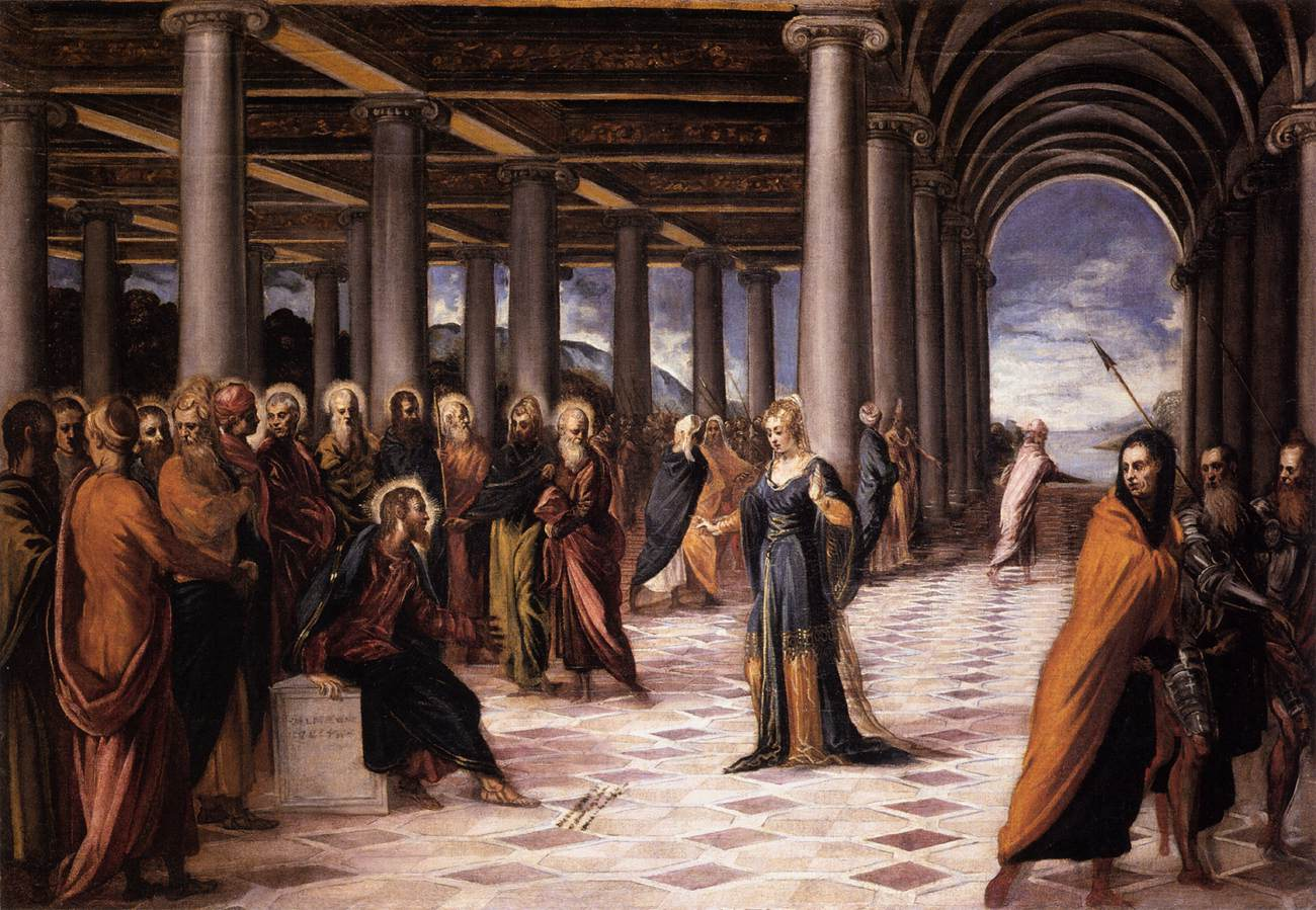 Günahkar Kadın ve İsa - Tintoretto 16.yy