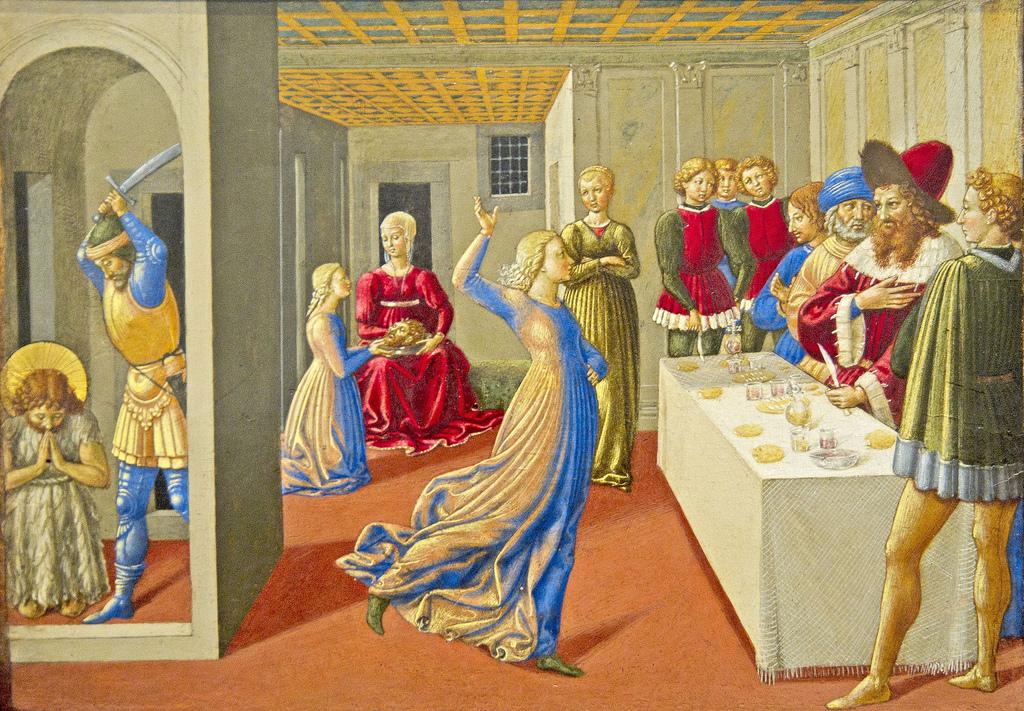 Solome'nin Dansı ve Vaftizci Yahya'nın Ölümü - Benozzo Gazzoli 15.yy