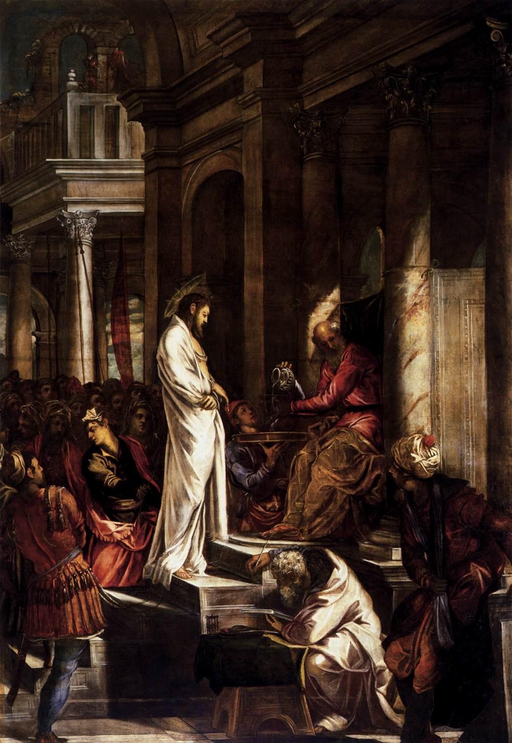 İsa Pilatus Önünde - Tintoretto 16.yy
