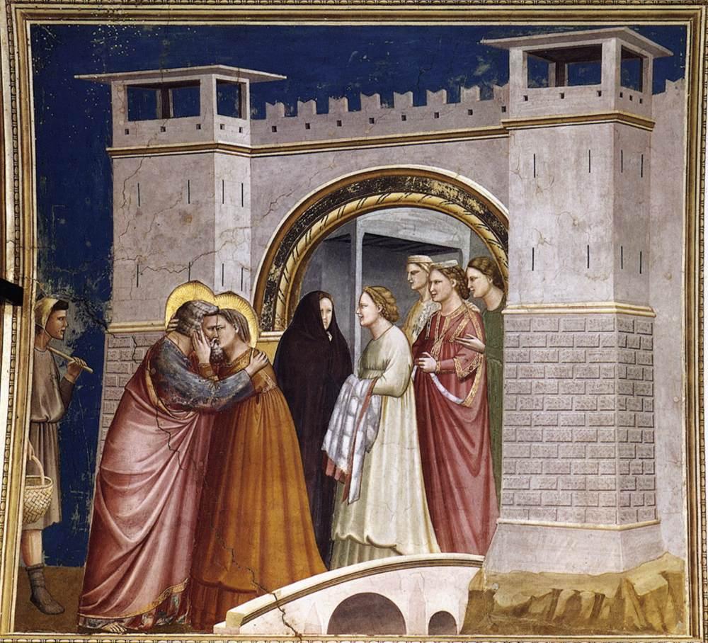 Altın Kapı'da ki Buluşma - Giotto 14.yy
