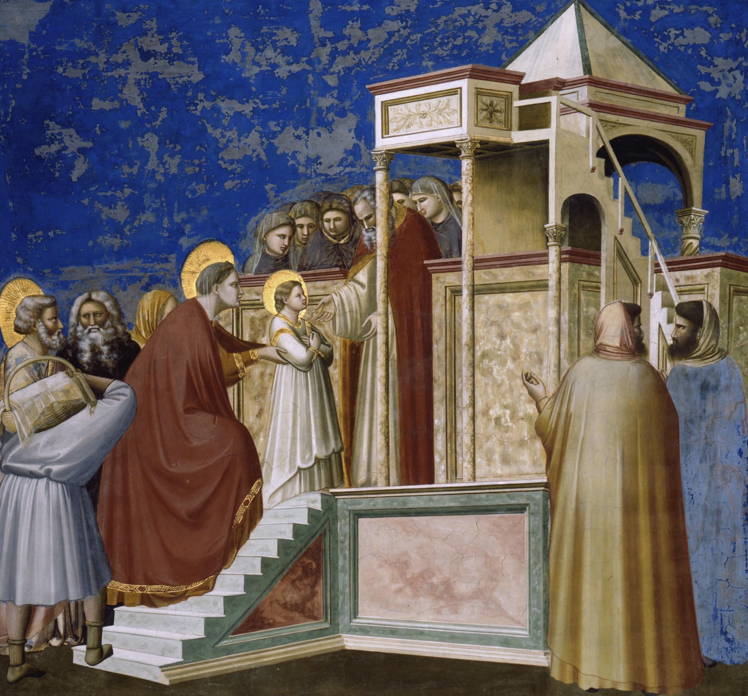 Meryem'in Tapınağa Takdimi - Giotto 14.yy