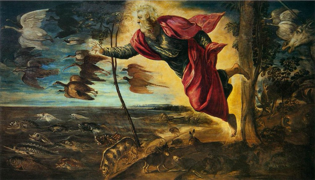 Hayvanların Yaratılışı Tintoretto 16.yy