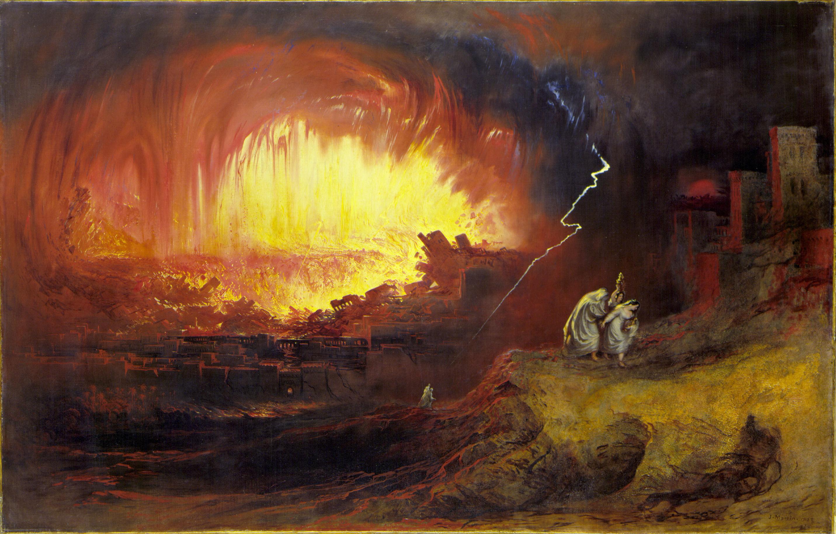 Sodom ve Gomora John Martin 19.yy