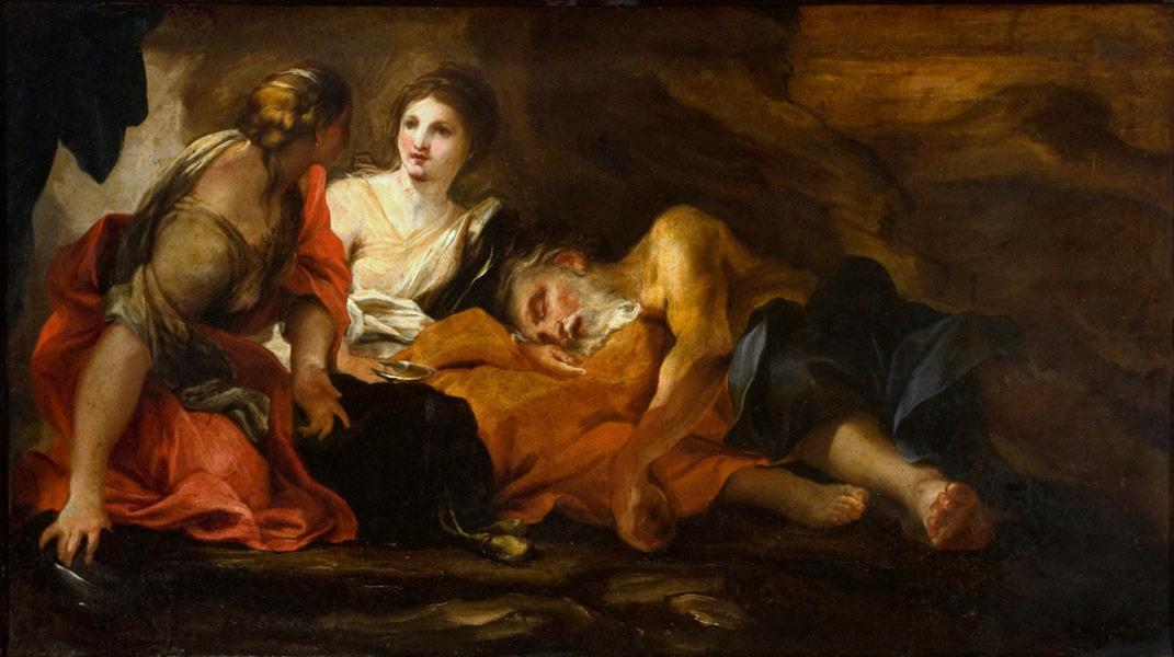 Lut ve Kızları Gregorio de Ferrari 17.yy