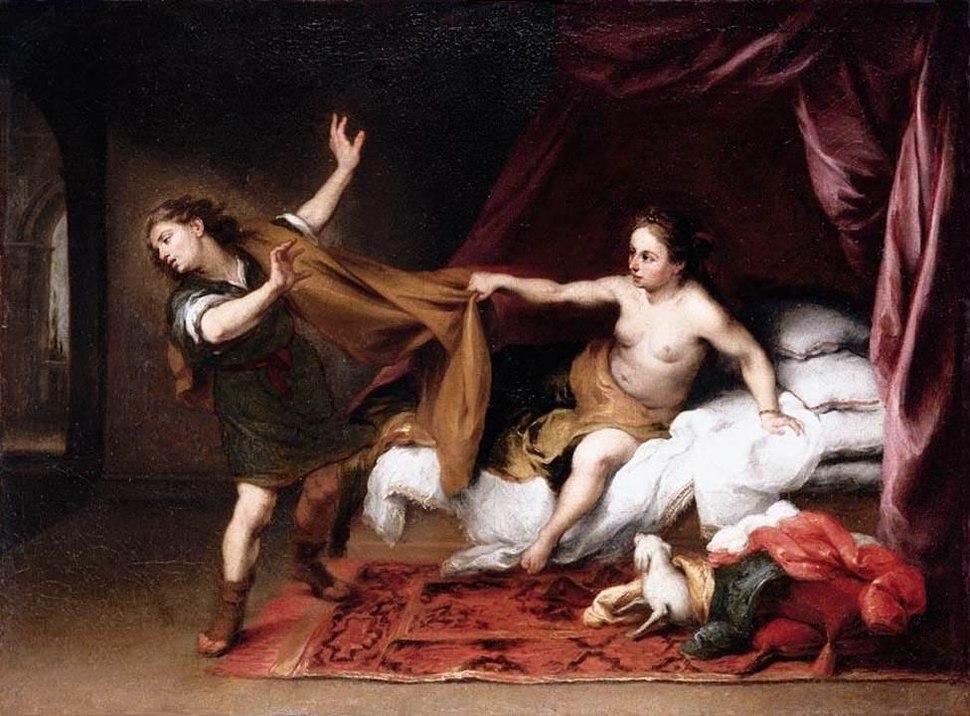 Yusuf ve Potifar'ın Karısı - Bartolomé Esteban Perez Murillo 17.yy