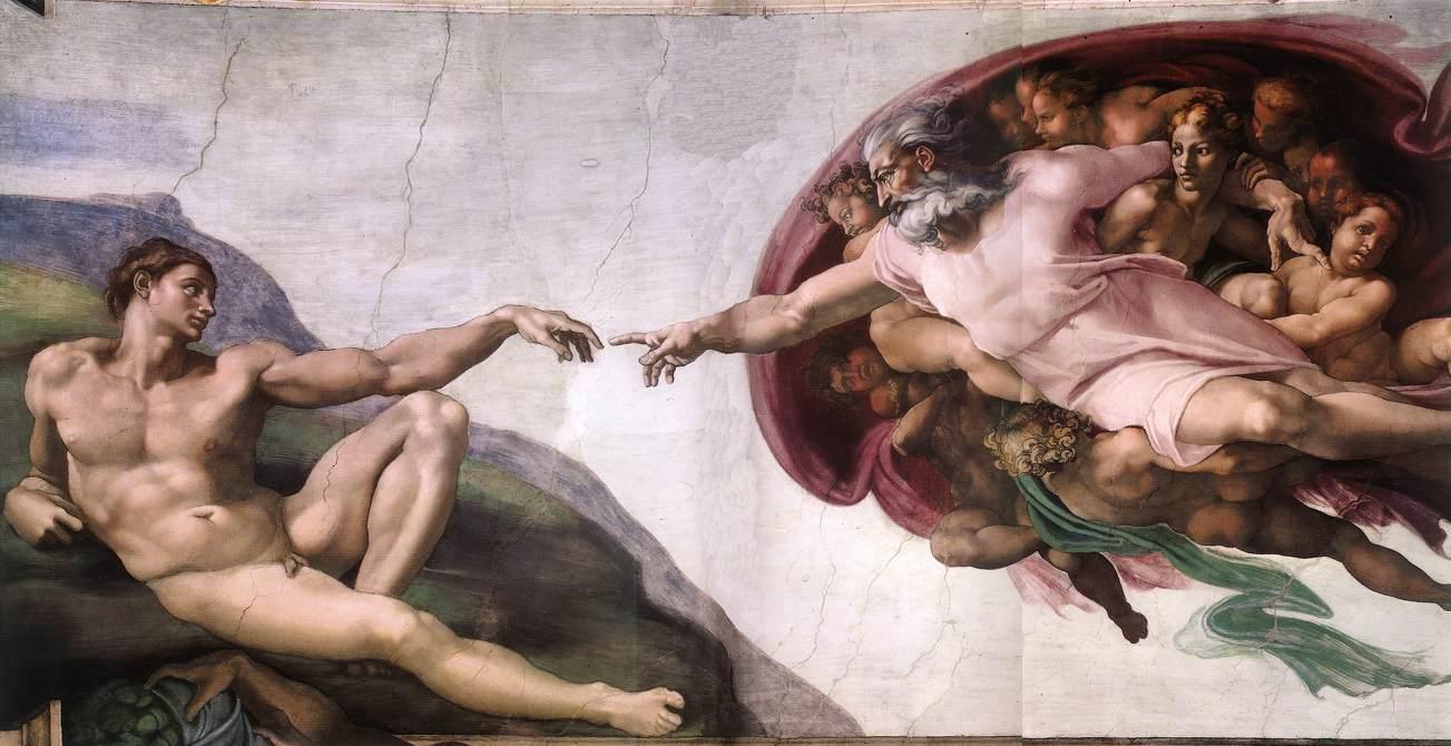 İnsanın Yaratılışı Michelangelo 16.yy