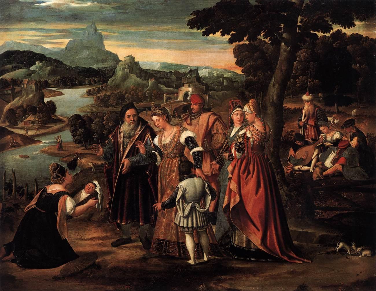 Musa'nın Bulunması - Stefano Cernotto 16.yy