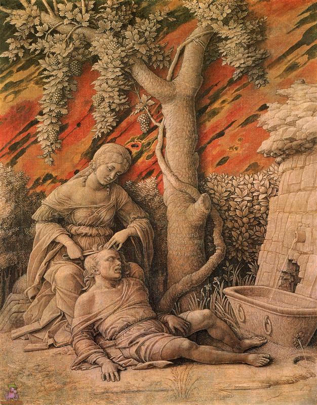 Samson ve Delilah - Andrea Mantegna 15.yy