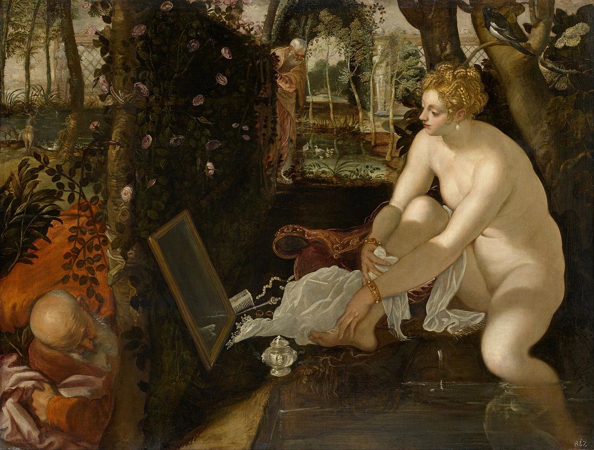 Susanna ve İki İhtiyar - Tintoretto 16.yy