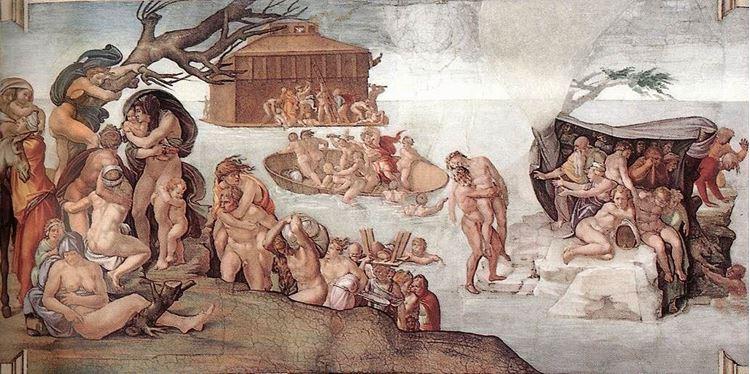 Nuh Tufanı Michelangelo 16.yy